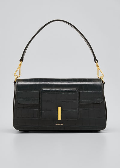 Georgia Mock-Croc Top Handle Shoulder Bag