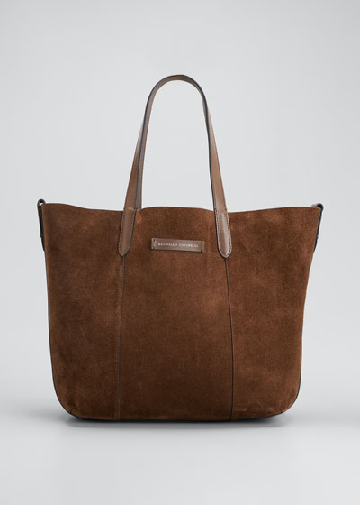 Medium Reversible Suede & Leather Tote Bag