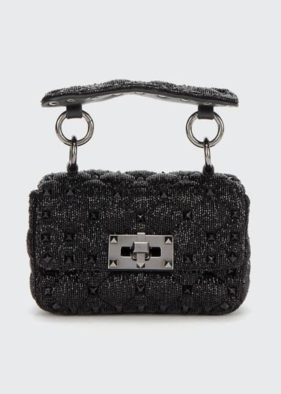 Spike.It Micro Rockstud Shining Silk Shoulder Bag