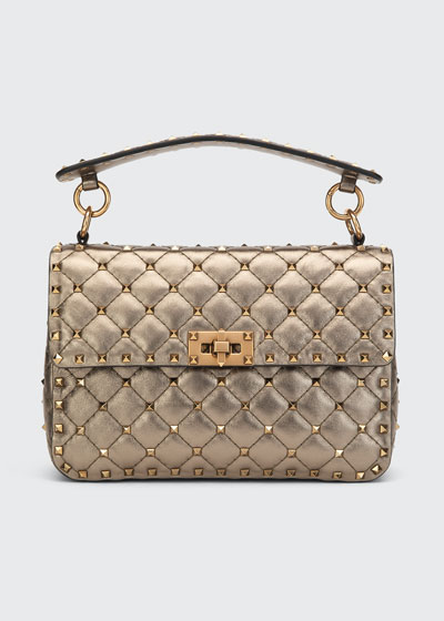 Spike.It Medium Lux Napa Shoulder Bag with Tonal Studs