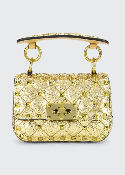 Spike.It Micro Rockstud Glitter Shoulder Bag