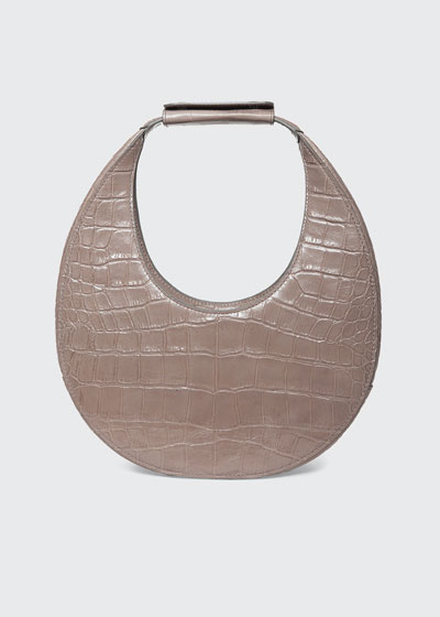 Moon Mock-Croc Shoulder Bag