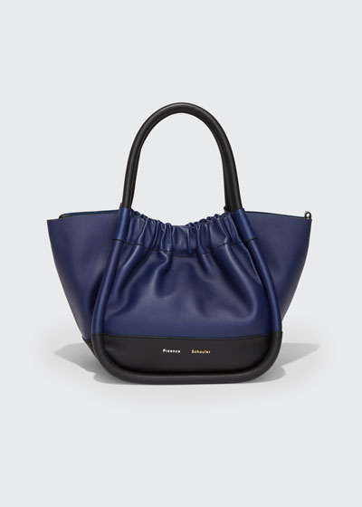 Small Colorblock Rucched Tote Bag
