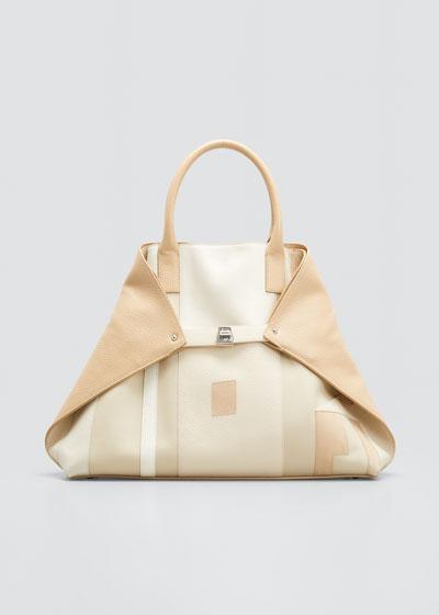 AI Medium Patchwork Tote Bag