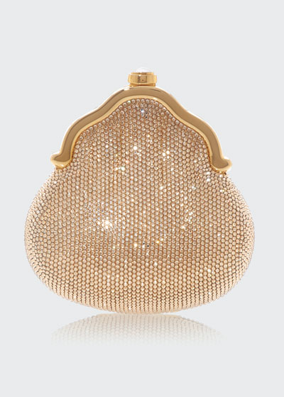 Chatelaine Shimmering Crystal Pouch Clutch Bag