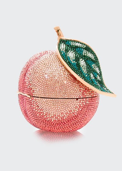 Apple Peach Shimmery Clutch Bag