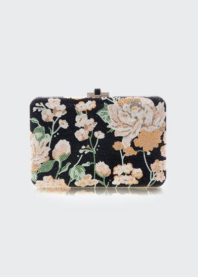 Slim Slide Floral Clutch Bag