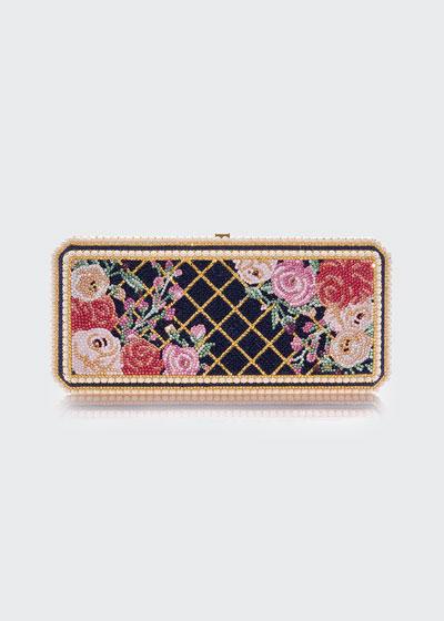Slim Rectangle Floral Clutch Bag