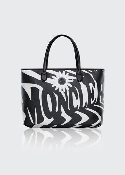Optical-Print Canvas Tote Bag