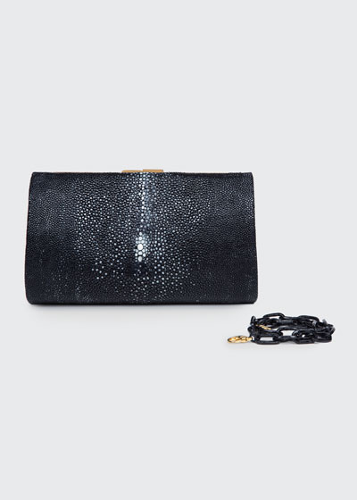Colette Small Crocodile Clutch Bag