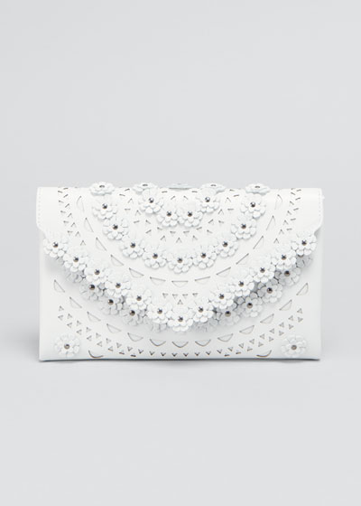 Oum Small Floral Cutout Clutch Bag
