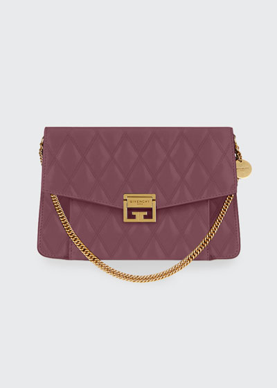 GV3 Medium Losange Quilted Leather Shoulder Bag