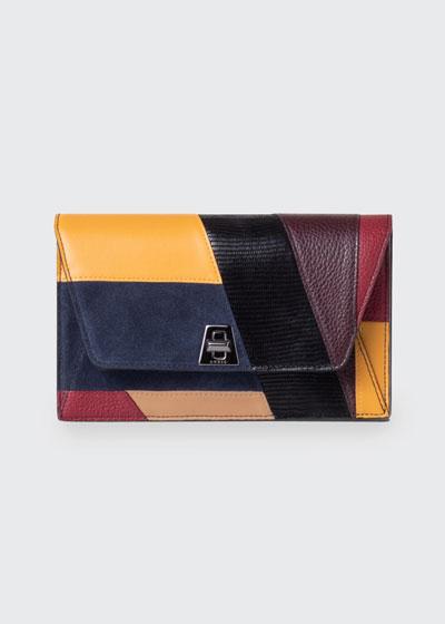 Anouk Orphisme Patchwork Chain Clutch Bag