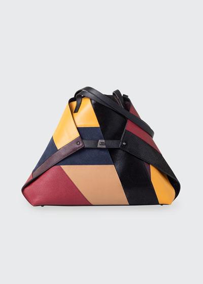 Ai Medium Multicolored Patchwork Tote Bag