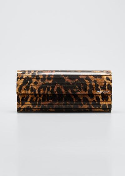 Sweetie Animal-Print Glitter Acrylic Clutch Bag