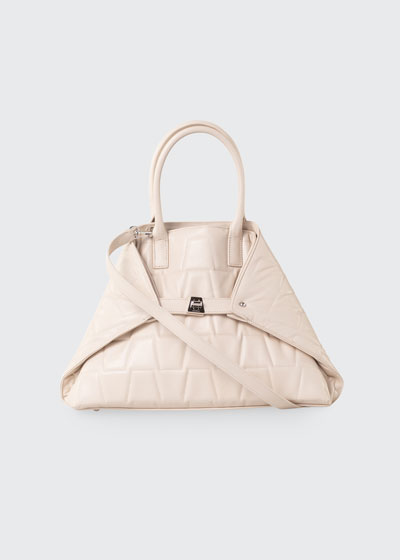Ai Small Quilted Convertible Tote Bag