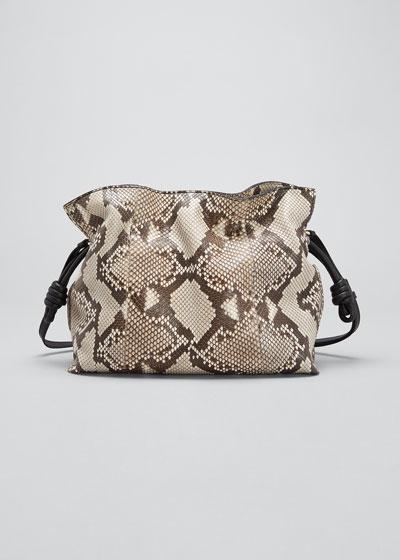 Flamenco Python Drawstring Knot Tote Bag
