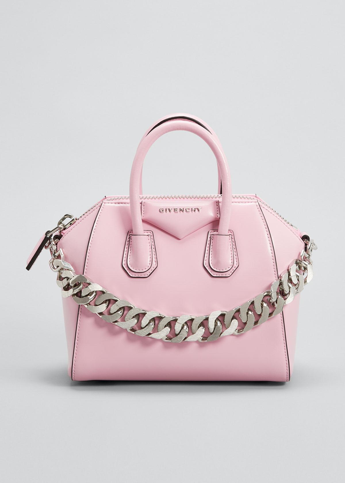 Givenchy Leathers MINI ANTIGONA BAG WITH CHAIN
