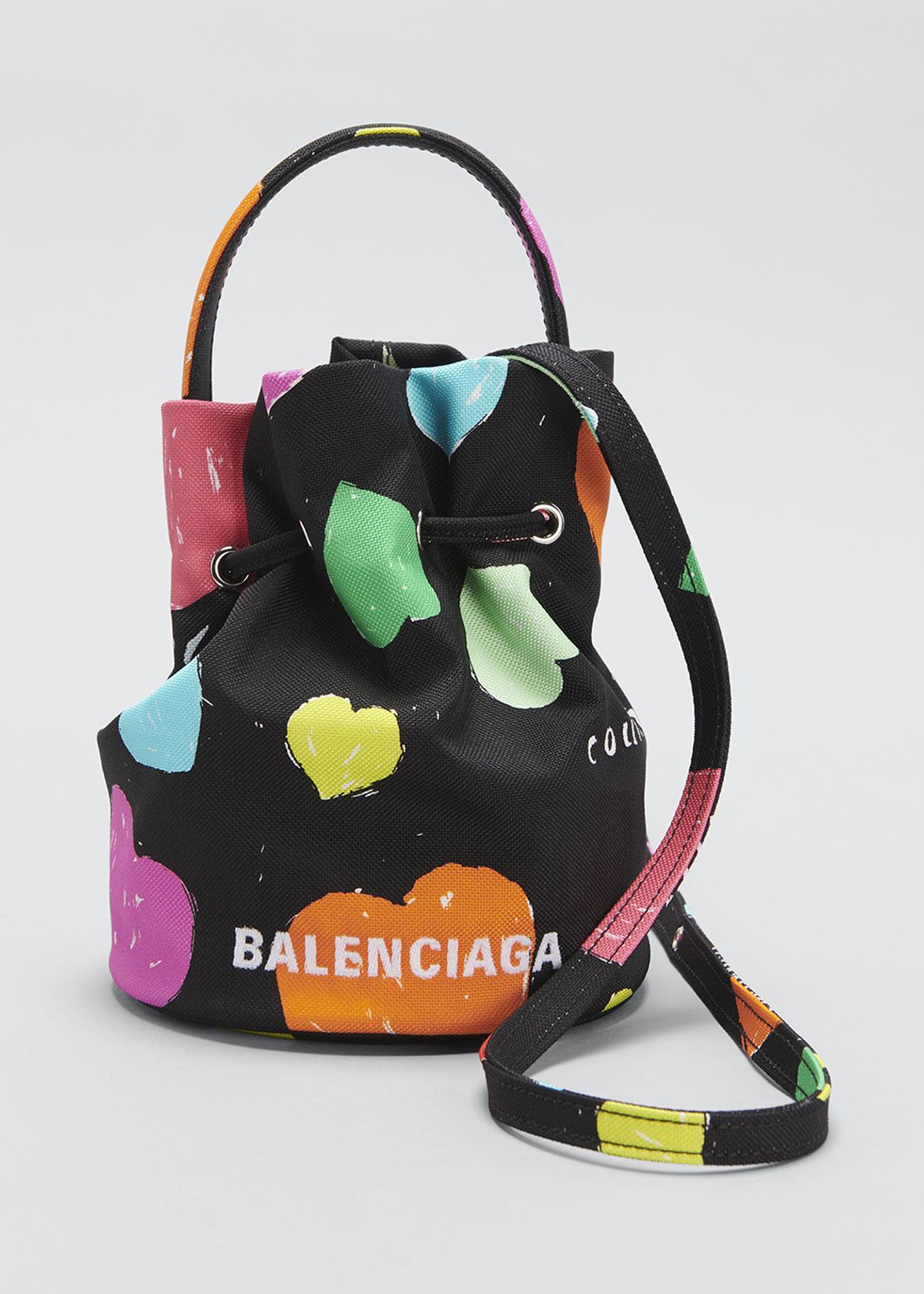 Balenciaga Bucket bags WHEEL MULTICOLOR HEART DRAWSTRING BUCKET BAG