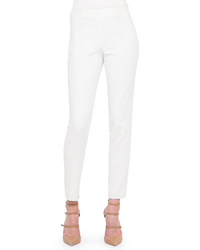 Melissa Slim-Fit Techno Pants, Ivory
