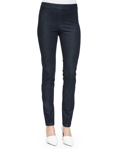 Stretch Denim Skinny Leggings