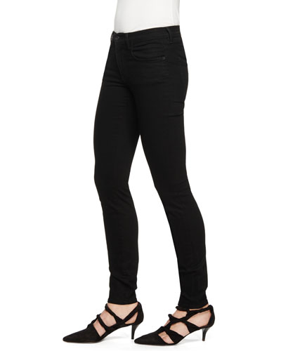 Stretch-Denim Skinny Jeans, Black