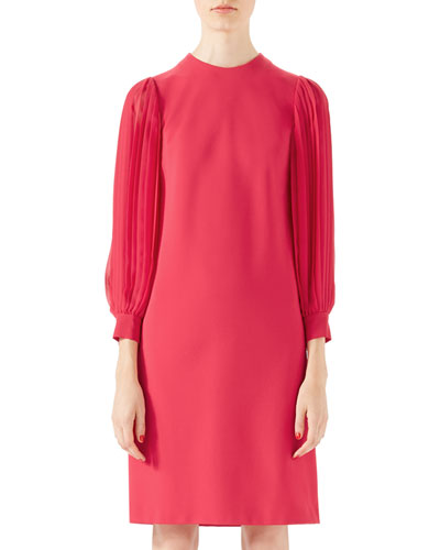 Viscose Jersey Dress, Fuchsia