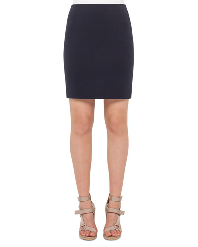 Stretch-Jersey Mini Skirt, Denim