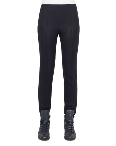 Melissa Stretch-Flannel Pants, Starling