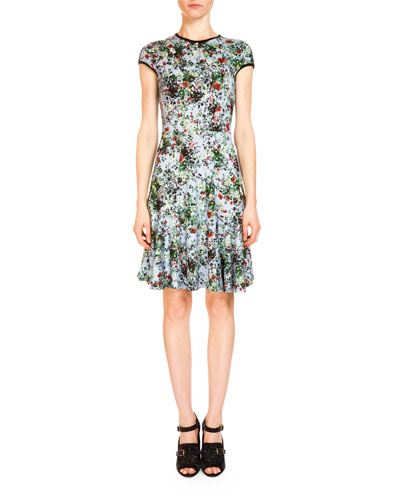 Daina Floral Fit-&-Flare Dress