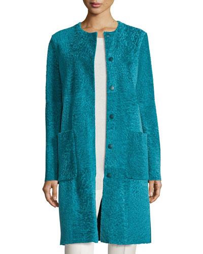 Ordine Lamb Fur Coat, Turquoise