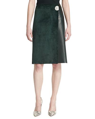 Designer Leather Skirt 92