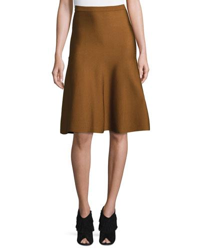 Knit A-Line Skirt, Henna