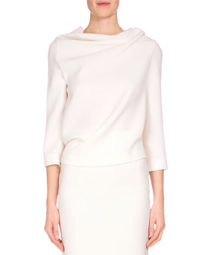 Oscar Tie-Back Blouse, White