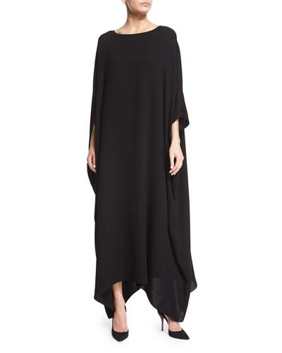 Long Woven Caftan Dress