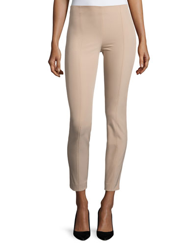 Cosso Skinny Cropped Pants, Amber Beige