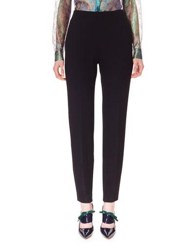 Wool Crepe Skinny Pants