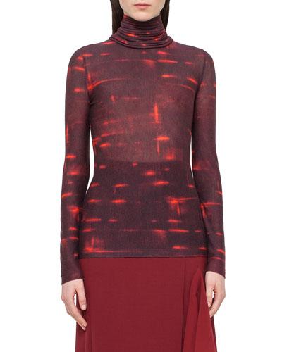 Massai-Collar Long-Sleeve Sweater, Date
