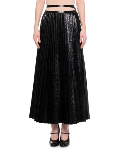 designer leather skirt bergdorfgoodman