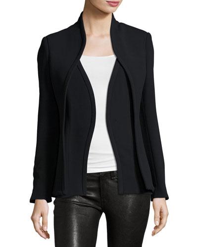 Layered Suit Jacket, Black