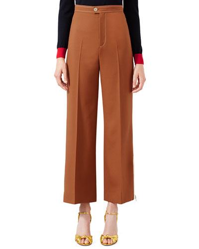 Cropped Wool Pants, Sienna