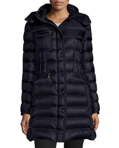 Hermine Hooded Puffer Jacket, Black