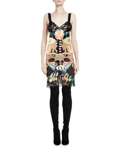 Cleopatra Lace-Trimmed Slip Dress, Multi