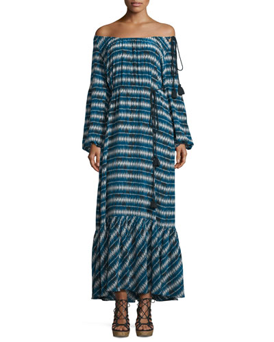 Marlie Printed Maxi Dress, Blue