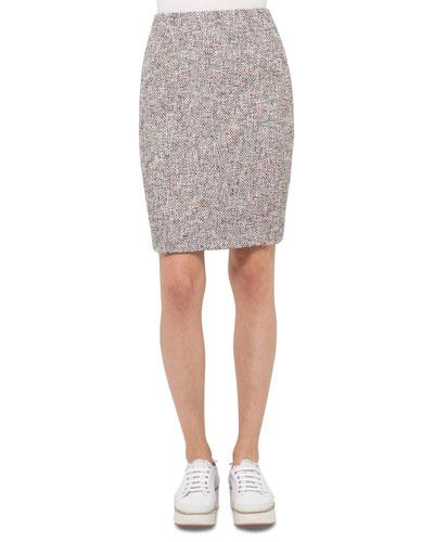 Tweed Pencil Skirt, Multi