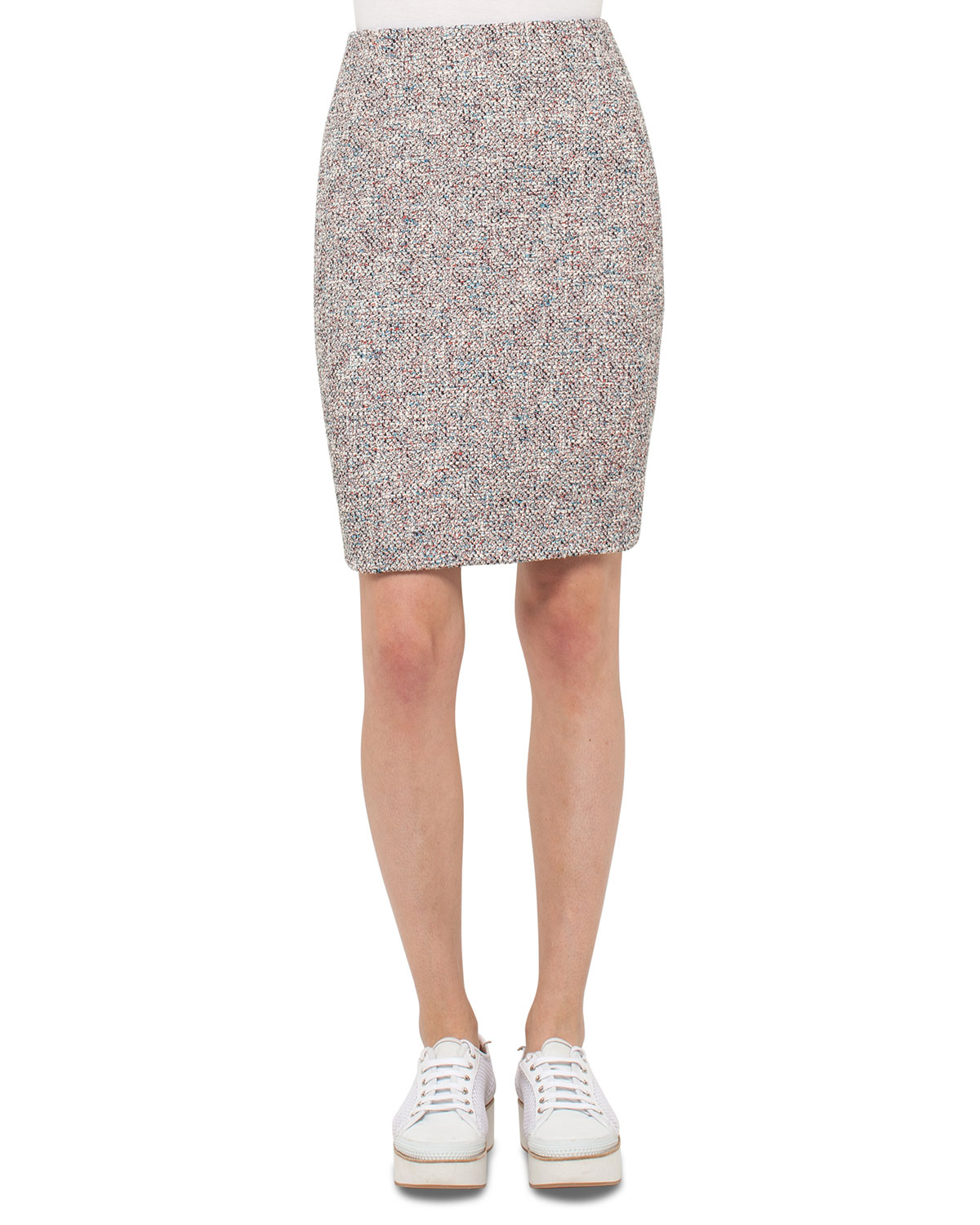 Tweed Pencil Skirt, Multi