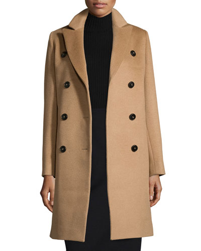 Double-Breasted Camel Hair Coat