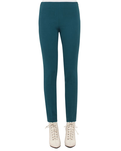 Melissa Wool-Blend Skinny Pants, Seabiscuit Teal