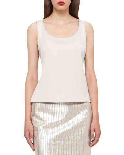 Stretch-Silk Camisole, Silver