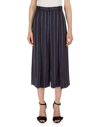 Tasia Striped Culottes, Plum/Blue